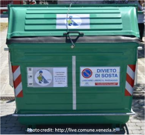 Bins to dispose obsolete fishing waste have been finally established in Venice