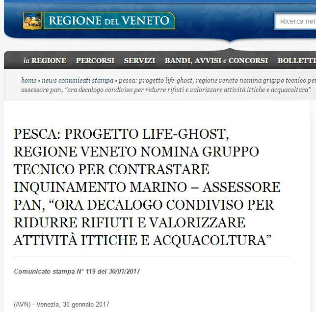 The Veneto region established a working group to decline at regional level operational recommendations drawn up under the project LIFE-GHOST