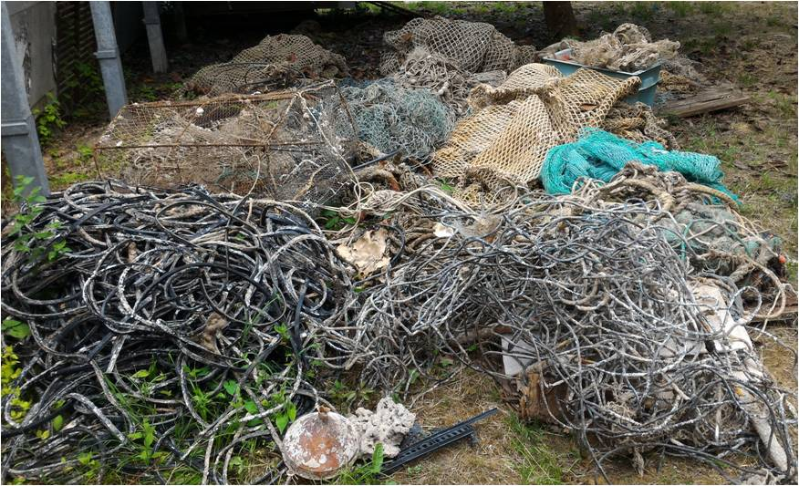 The removal of ghost nets from rocky outcrops  is now completed